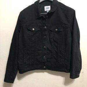 Old Navy women's jean jacket, color black, sz XXL